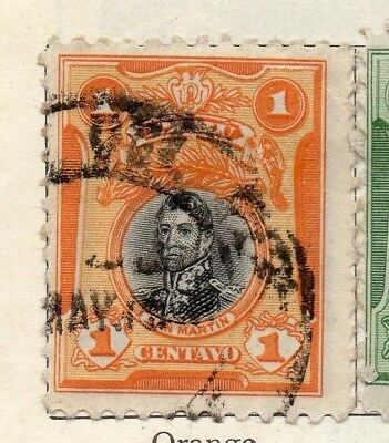Peru 1918 Early Issue Fine Used 1c. 128669