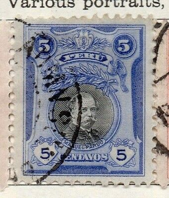 Peru 1918 Early Issue Fine Used 5c. 128672