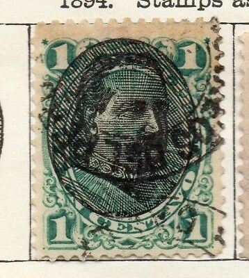 Peru 1894 Early Issue Fine Used 1c. Optd 128690