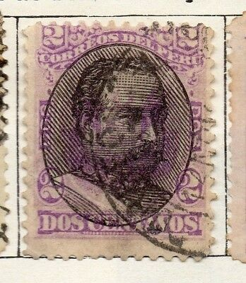 Peru 1894 Early Issue Fine Used 2c. Optd 128691