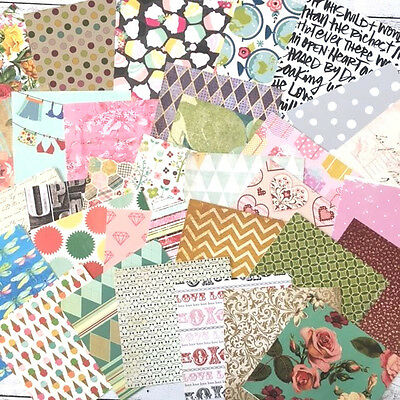 Patterned Paper 35 Sheets 6 x 6 Inch, Scrapbooking, Cards, Craft, Planner, Art