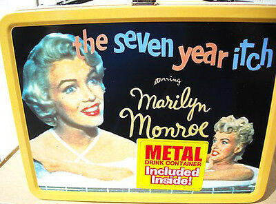 NECA MARILYN MONROE Seven year Itch METAL LUNCHBOX W Thermos Drink Container Tin