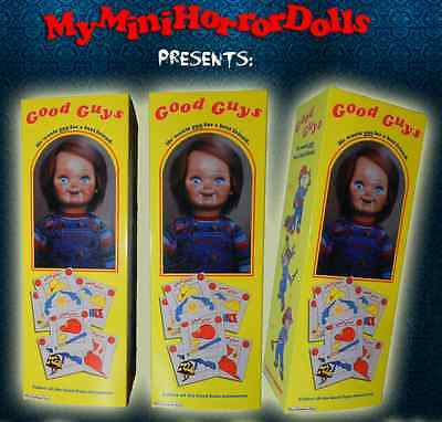 "8'' ""good Guys Box Replica With Mini Batteries"" Chucky Killer Doll- Child's Play"