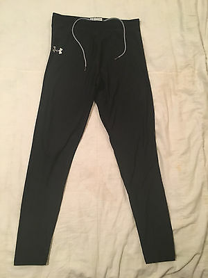 Youth Girls L Large Black Under Armour Athletic Running Jogging Sweat Pants