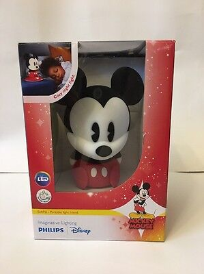 New Philips Disney Mickey Mouse SoftPal Portable LED Night Light Lamp Kids Room