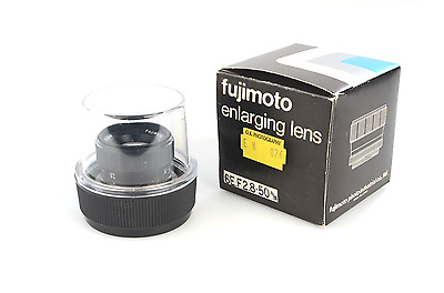 Fujimoto 50mm f2.8 enlarger lens with case and original box.