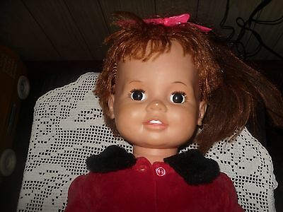 VINTAGE IDEAL DOLL IDEAL TOYS BABY CRISSY W/ BEAUTIFUL DRESS 1973 24in VGC