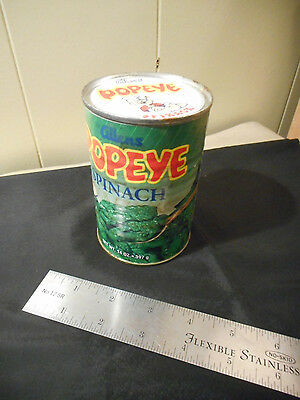Vintage Allenns POPEYE Spinach can not opened collectable