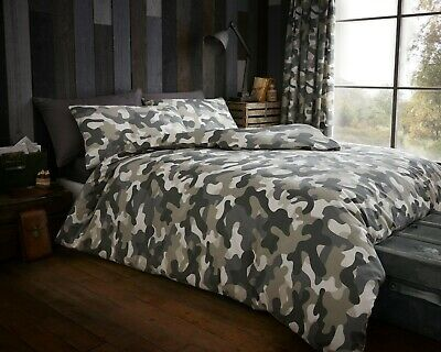 Camouflage Army Style Duvet Covers Quilt Cover Reversible Bedding Sets All Sizes