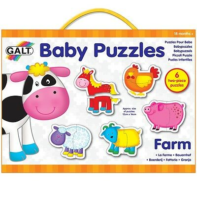 Galt Baby Puzzle Farm Baby/Toddler/Child Jigsaw Educational Toy/Activity New
