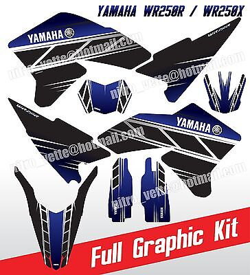 Yamaha WR250R Graphic kit retro style full decals WR250X WR 250R WR 250X