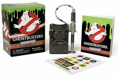 Ghostbusters Mini Proton Pack and Wand with light & sound plus Sticker Book NEW