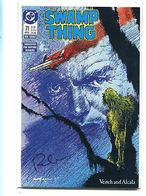 Swamp Thing #71 Nm 9.4 Signed By Rick Veitch Stunning Cover
