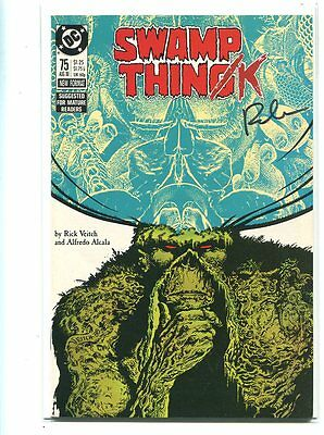 Swamp Thing #75 Nm 9.6 Signed By Rick Veitch Classic Cover