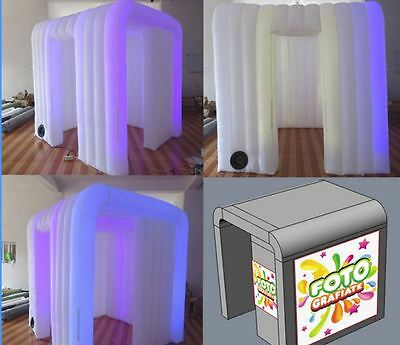 Custom made 7.2ft inflatable LED lights photo booth party events pop up supplies