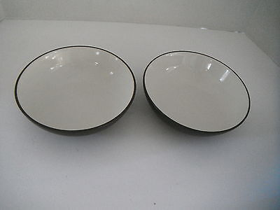 Noritake Colorwave Chocolate Brown Set of 2 Cereal / Soup Bowls