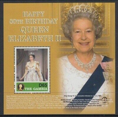 Gambia Queen's 80Th Birthday M/s Uhm/mnh (Id:795/d44303)