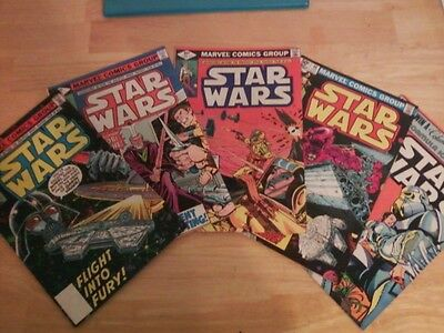 Star Wars Comic Books 1979 to 1981 - Lot of 5
