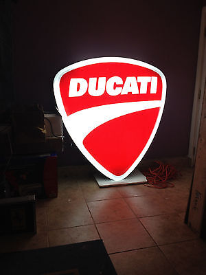 Rare Ducati Motorcycle Dealer Dealership Lighted Light Up Sign Ferrari