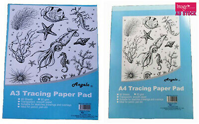 Tracing Paper Pad 30 Sheets Acid Free Overlays Drawing Choose A4 or A3