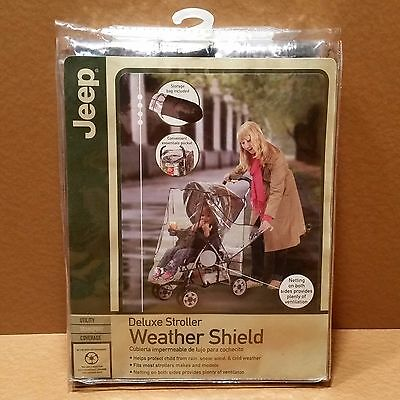 BRAND NEW Jeep Deluxe Stroller Weather Shield, (UTILITY TRANSPORT COVERAGE)