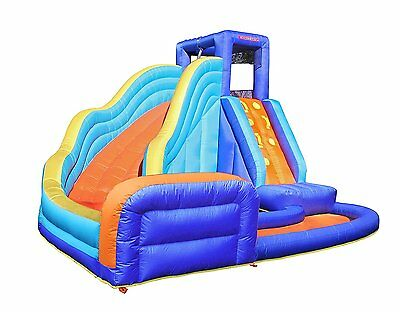 Backyard Fun New Quick Inflatable Climbing Wall Curve Slide Pool Fun For Hours