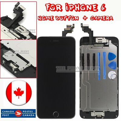 """Replacement For iPhone 6 4.7"""" Digitizer LCD Touch Screen HomeButton&Camera Black"""