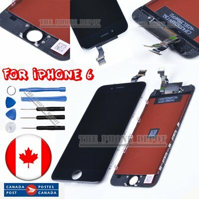 "Replacement For Black iPhone 6 LCD 4.7"" Touch &Digitizer Display Assembly CANADA"