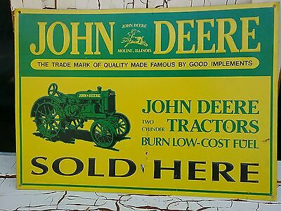 JOHN DEERE vintage tin metal sign USA made 11×15 tractor Reproduction