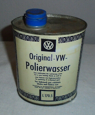 Vintage Vw Volkswagen Original Vw Polierwasser Cleaner Tin Oil Quart Can