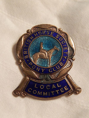 Vintage British Horse Society Pony Club Local Committee Pin Equestrian Racing