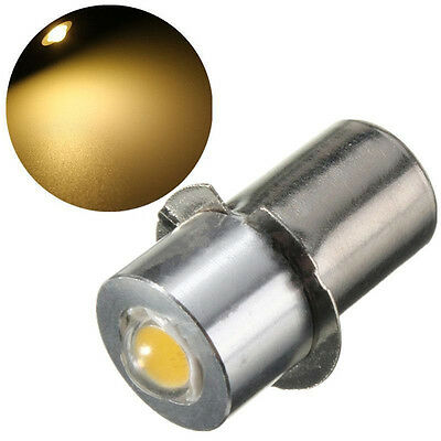 P13.5S PR2 1W Warm/White Led FlashLight Bulb High Brightness Lamps 90lm DC18V LM