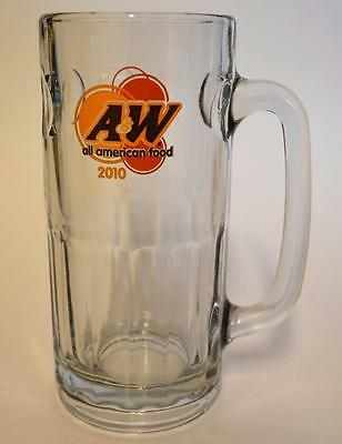 "2010 A&W ~ All American Food ~ Glass Cup Mug Stein 7"" Tall Dimples ~ Root Beer"