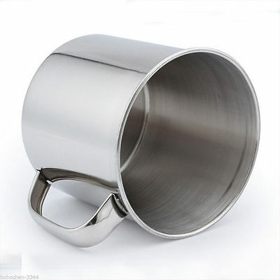 Stainless Steel Coffee Tea Mug Cup-Camping/Travel 3.5  Hot LM