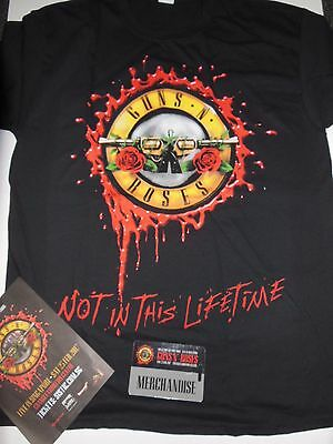 GNR Guns N Roses-Not In This LifeTime Singapore Official Tour T-shirt Large BN