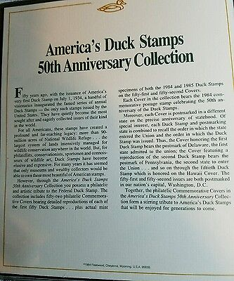 Americas Duck Stamp 50th Anniversary Collection PRISTINE!!