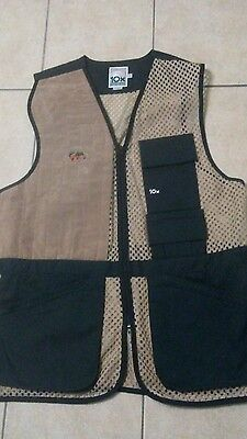 10X Mesh Shooting Mens Vest 2XL Hunting Mesh Green/Beige