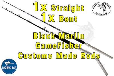 2x BMA 24kg Stand-up Game Fishing Rods 1x Bent 1x Str Butts Trolling Lures etc..