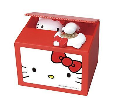Hello Kitty Bank Piggy Bank SAVING BOX SHINE from Japan