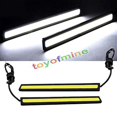 2x COB coche blanco luces LED 12V para DRL Fog Driving lámpara impermeable