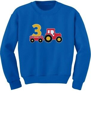 3rd Birthday Gift Construction Party 3 Year Old Boy Toddler/Kids Sweatshirts
