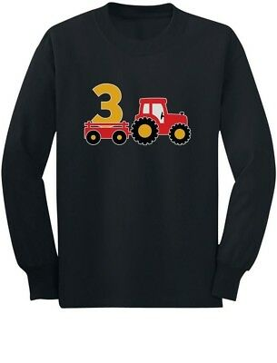 3rd Birthday Construction Party 3 Year Old Boy Toddler/Kids Long sleeve T-Shirt