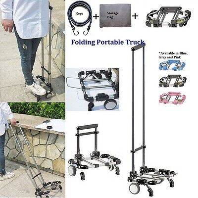 A4 Size Compact Folding Aluminium Hand Truck Trolley Luggage Cart Foldable Wheel
