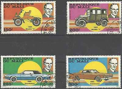 Timbres Voitures Mali 542/5 o lot 6303