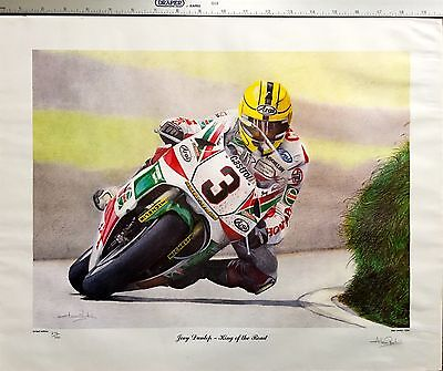 Tt Special : Joey Dunlop Limited Edition Print Signed By Artist Alan Perkin 1996