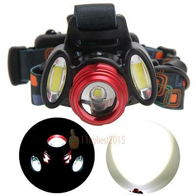 15000LM 3x XML T6 USB Rechargeable LED Headlamp HeadLight Flashlight Torch Lamp