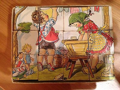 Childrens Vintage Cubed Jigsaw Puzzle