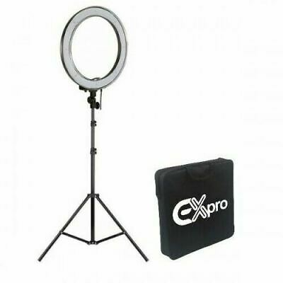 "Ex-Pro 5500K 90+ CRI (300w EQ) LED 18"" Ring Photographic Studio Light with case"