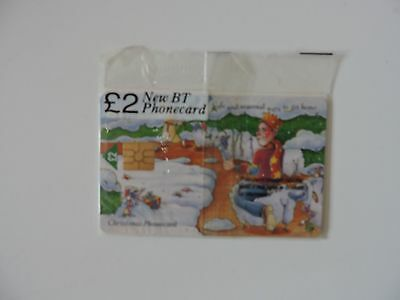 New Collectable  Bt Christmas  Chip Phone Card. Still Sealed