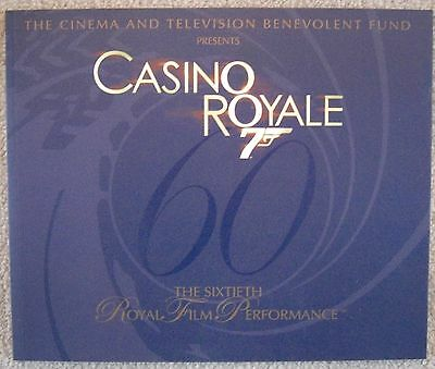 Casino Royale - Film Prop - James Bond 007 - Royal Film Performance Booklet